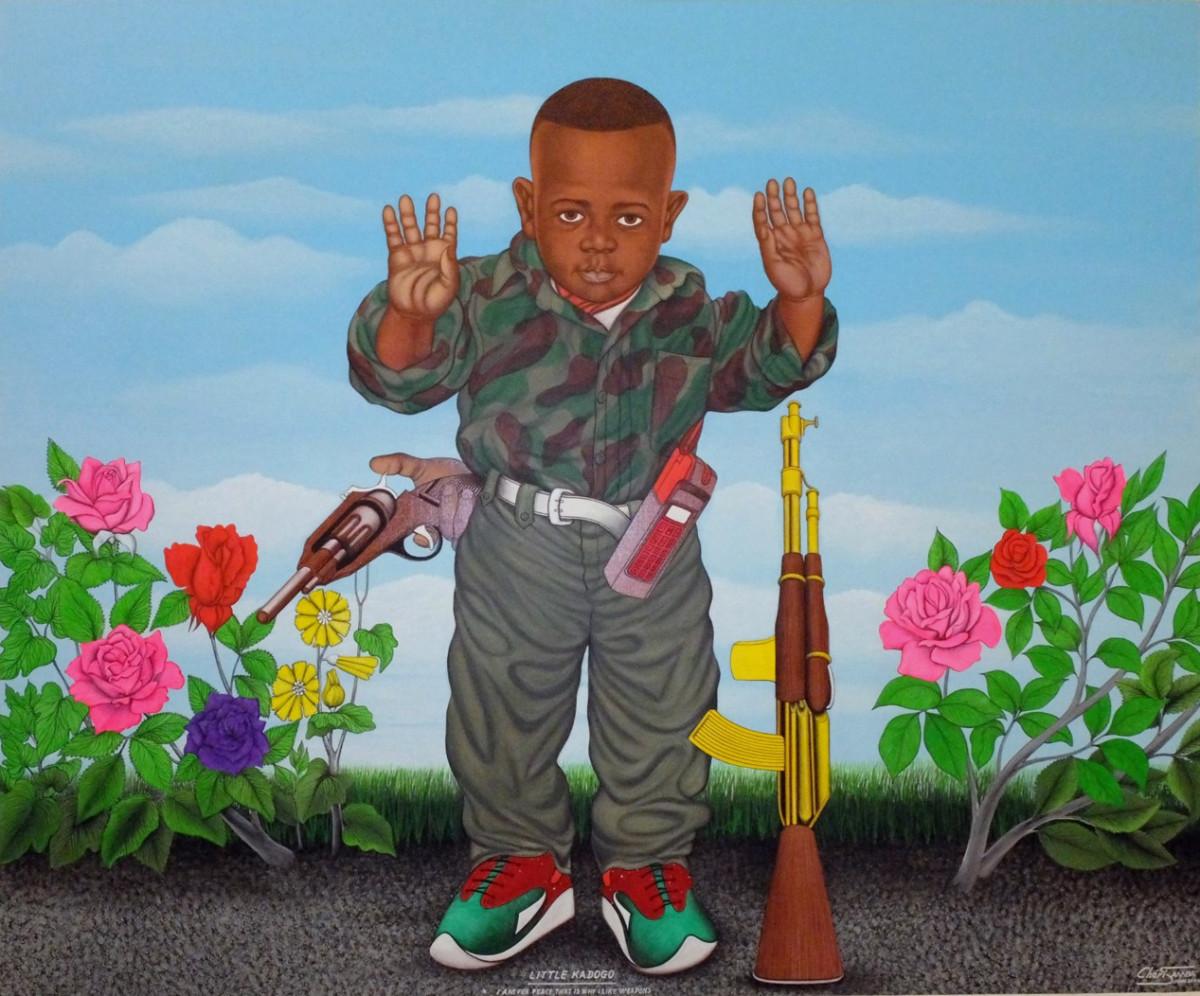 expo_congo_fondation-cartier_peinture-enfant-soldat_cheri-samba copia