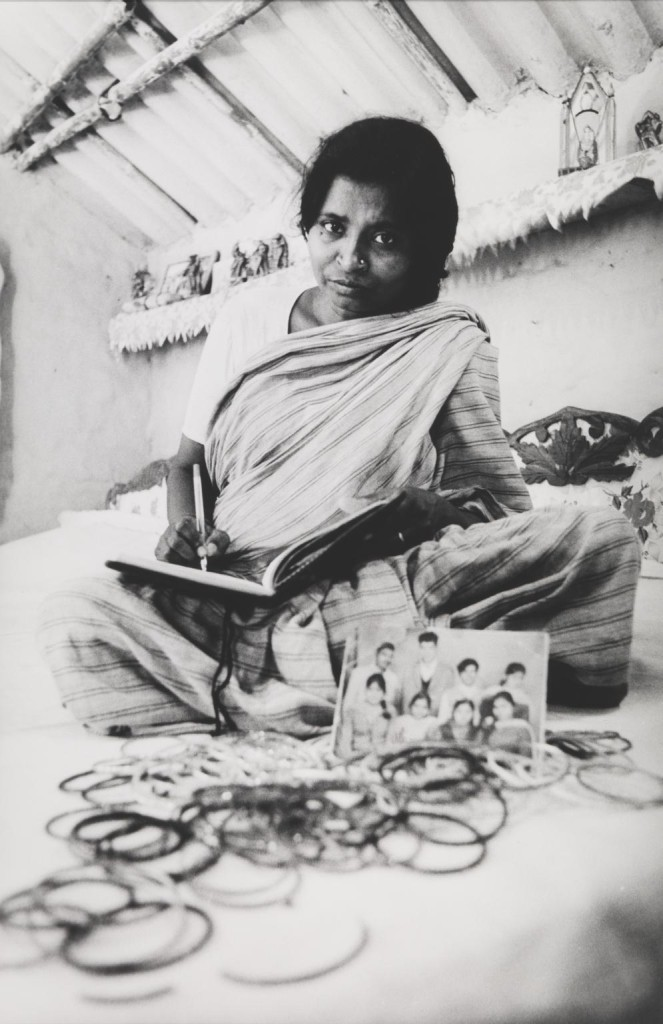 Devikripa - Staged Portrait, Seemapuri, Delhi 1990, printed 2014 by Sheba Chhachhi born 1958