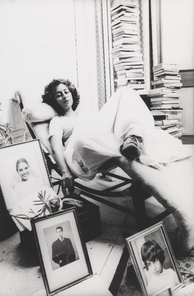 Radha - Staged Portrait, Anandlok, Delhi 1991, printed 2014 by Sheba Chhachhi born 1958